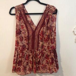 Floral tank top blouse